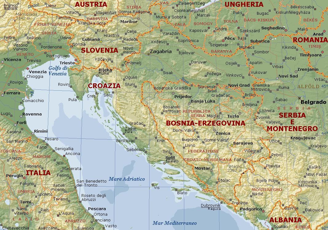 Italia Croazia Cartina.Incontro Italia Croazia Sulle Politiche Transfrontaliere Adriaeco