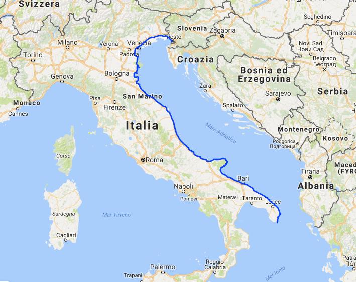 Risultati immagini per La Ciclovia Adriatica
